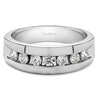 10k White Gold Men's 1/4ct TDW Diamond Channel-set Ring (G-H, SI1-SI2)