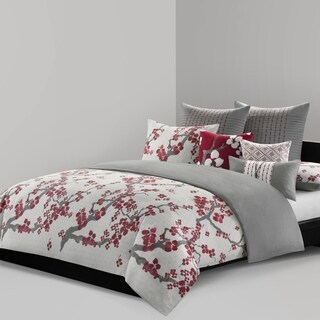 N Natori Cherry Blossom Multi Cotton Duvet Cover Mini Set (2 options available)