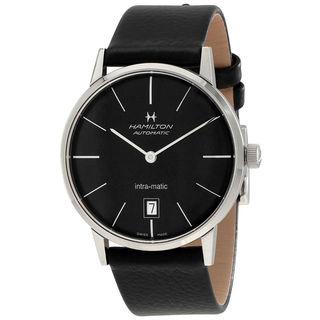 Hamilton Men's H38455731 Intra-Matic Black Watch