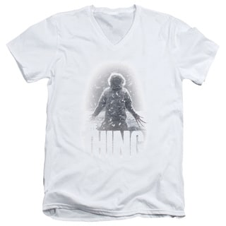 Thing/Snow Thing Short Sleeve Adult V-Neck in White