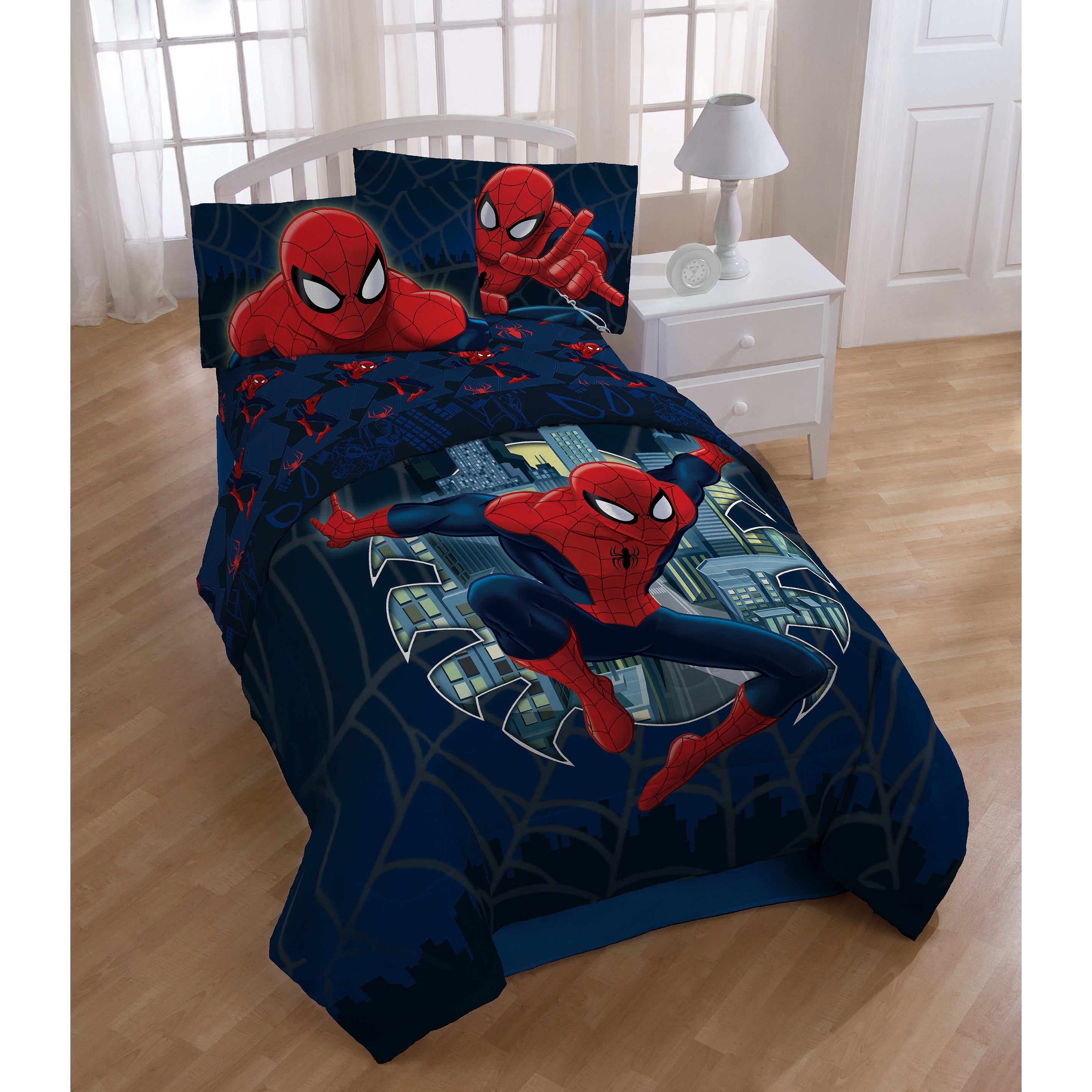 Marvel Spiderman 6-piece Bed in a Bag with Sheet Set (6 P...