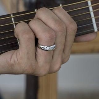 Charles Colvard 10k Gold Men's 1/2ct TGW Moissanite Wedding Ring