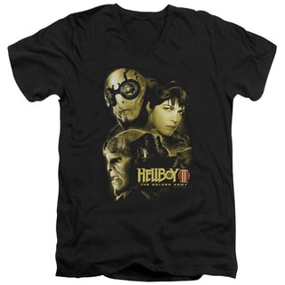 Hellboy Ii/Ungodly Creatures Short Sleeve Adult V-Neck in Black