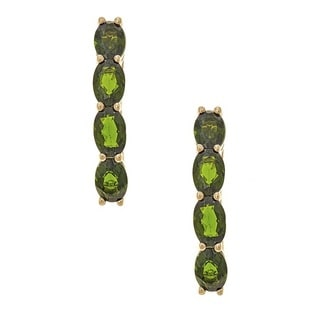 Anika and August 14K Yellow Gold Chrome Green Diopside Earrings