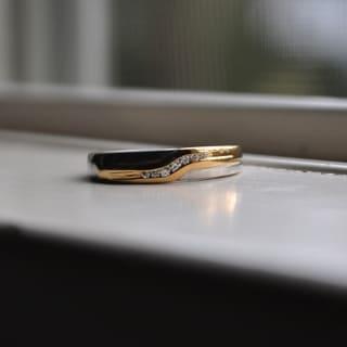 TwoBirch 14k Gold Men's 2/5ct TDW Fancy Moissanite Wedding Ring