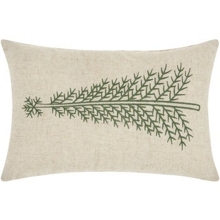 Mina Victory Home for the Holiday Pine Tree Linen Throw Pillow (12-inch x 18-inch) by Nourison