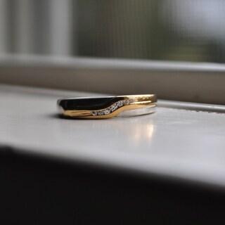 Charles Colvard Sterling Silver Men's 1/10ct TGW Moissanite Wedding Ring