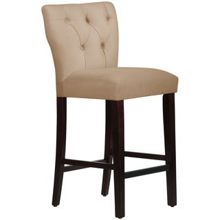 Skyline Furniture Tan Microsuede Tufted Hourglass Bar Stool