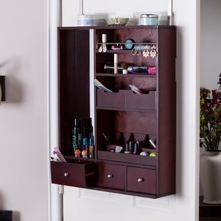Harper Blvd Jocelyn Over-the-Door Makeup Mirror/ Accessory Organizer