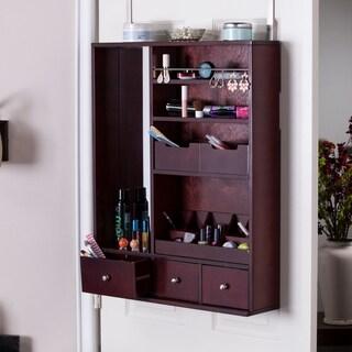 Harper Blvd Jocelyn Over-the-Door Makeup Mirror/ Accessory Organizer