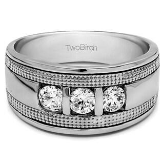Charles Colvard 14k Gold Men's 1/2ct TGW Moissanite Wedding Ring