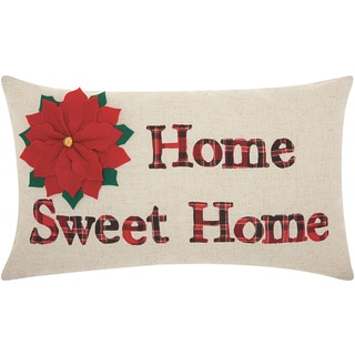 Mina Victory Home for the Holiday Home Sweet Home Natural Throw Pillow (12-inch x 20-inch) by Nourison