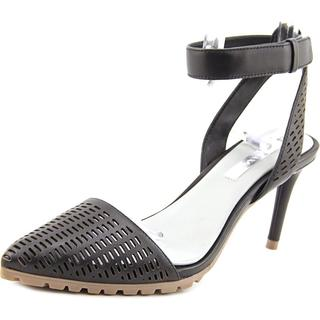 BCBG Max Azria Women's Coll Black Nappa Leather Sandals