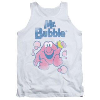 Mr Bubble/80S Logo Adult Tank in White