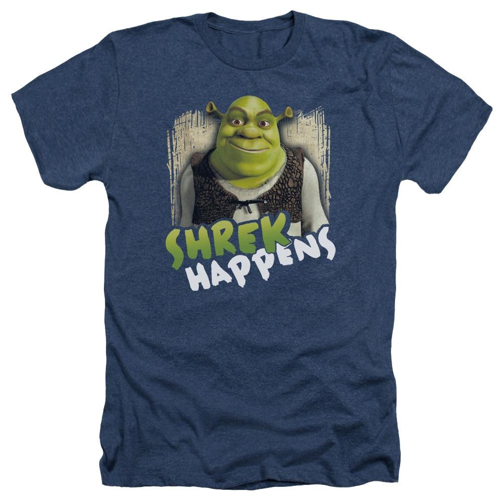 Shrek T-Shirt Shrek Happens Navy Heather Tee
