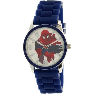 Disney Boy's Ultimate Spider-Man Blue Silicone Quartz Watch