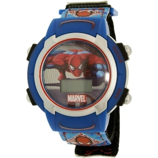Boy's Spider-Man Blue Cloth Quartz Watch