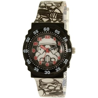 Disney Boys' Star Wars Black Analog Quartz Watch