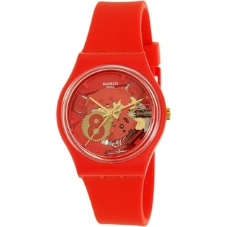 Swatch Boy's Gent GR166 Red Silicone Swiss Quartz Watch