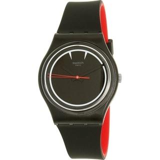 Swatch Boy's Originals GB294 Black Silicone Swiss Quartz Watch