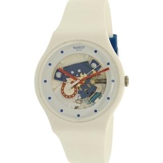Swatch Boy's New Gent White Silicone Swiss Quartz Watch