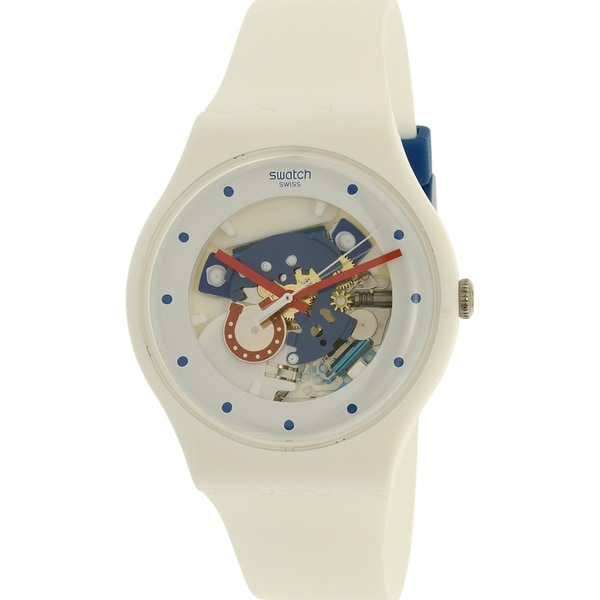fdb72fc6603e Shop Swatch Boy s New Gent White Silicone Swiss Quartz Watch - Free  Shipping Today - Overstock - 12519881