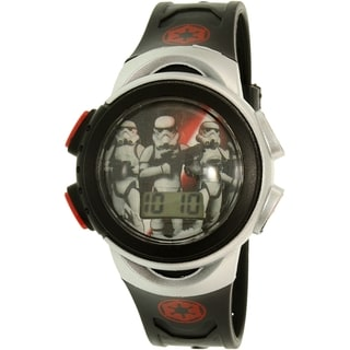 Disney Boys' Star Wars SWRKD045 Silver Plastic Quartz Watch
