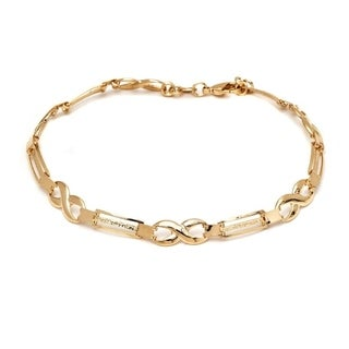 Goldplated Rose Infinity Bracelet