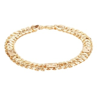 Peermont Jewelry 18k Gold-plated High Polish Linked Wired Bracelet