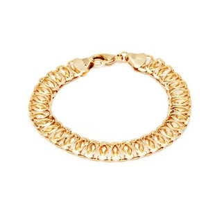 Brass 18k Goldplated Linked Chain Bracelet