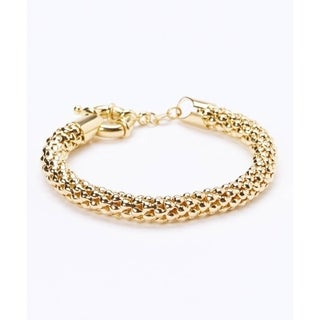 Goldplated Popcorn Mesh Bracelet