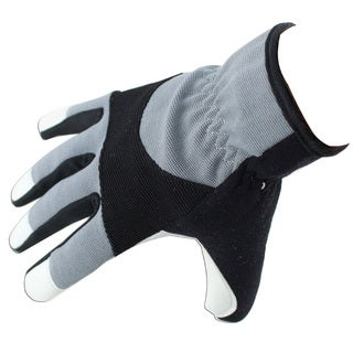Defender Perrini Black/Grey/White Genuine Leather/Textile Mechanical Work Gloves