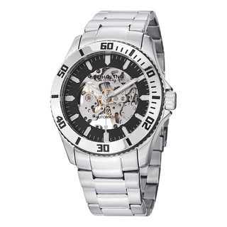Stuhrling Original Men's Automatic Legacy Skeleton Stainless Steel Link Bracelet Watch