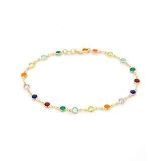 Women's 18K Gold-plated Multicolored Crystal Bracelet