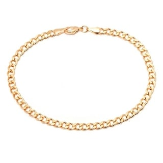 Peermont Jewelry Goldplated 10-inch Curb Link Chain Anklet