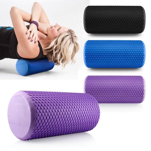 Gearonic Portable Drink EVA Yoga Grid Foam Roller Massage Gym Fitness