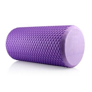 Gearonic Portable Drink EVA Yoga Grid Foam Roller Massage Gym Fitness (Option: Purple)