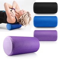 Gearonic Portable Drink EVA Yoga Grid Foam Roller Massage Gym Fitness