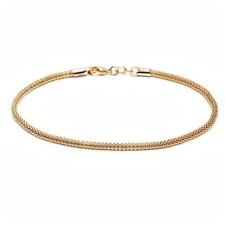 Peermont Jewelry Gold-plated Popcorn Ankle Bracelet