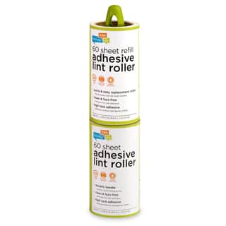 Honey Can Do LNT-03769 Lint Roller Plus Adhesive Roll 60-count|https://ak1.ostkcdn.com/images/products/12520295/P19326067.jpg?impolicy=medium