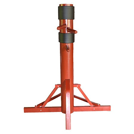 Wing Chun Solid Wood Tripod Dummy (Color), Red