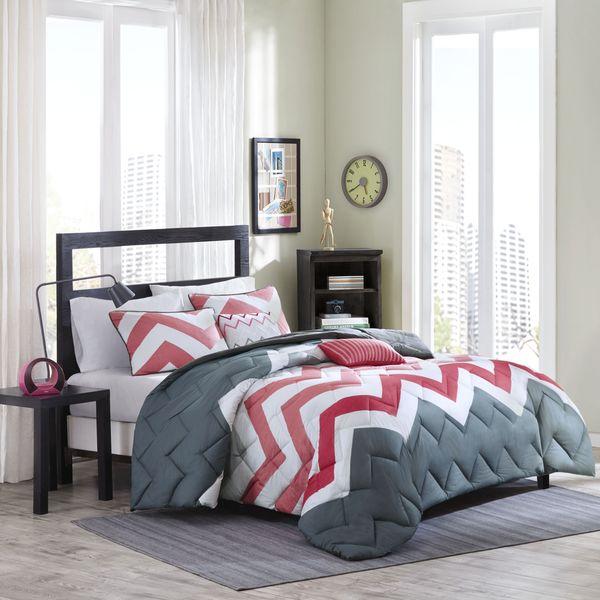 Intelligent Design Finley Coral 5-piece Comforter Set