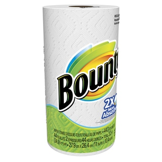 Bounty 88275 White Bounty Regular Paper Towel Roll 44-count