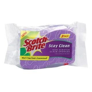 3M 20203-8 Scotch-Brite Stay Clean Scrub Sponge 3-count