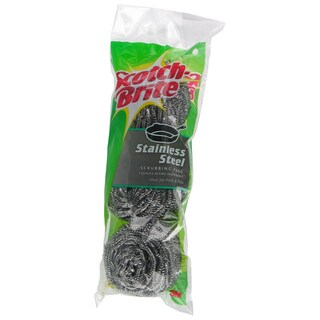 3M 214C Scotch-Brite Stainless Steel Scouring Pads 3-count