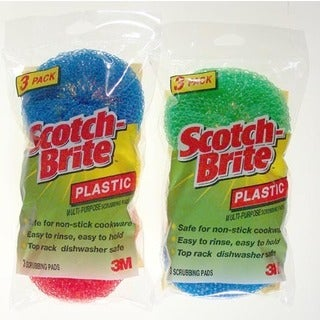 3M 215-FW Scotch-Brite Multi-Purpose Plastic Scrubbing Pads