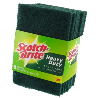Shop 3m 228 Scotch Brite Heavy Duty Scour Pad 8 Count