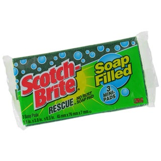 3M 300 3 Mini Scotch-Brite Rescue No Rust Soap Pads