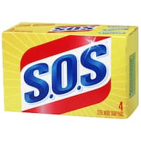 S.O.S 98041 4-count S.O.S Steel Wool Soap Pads