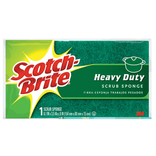 3M 455 Scotch-Brite Heavy Duty Household Scrub Sponge